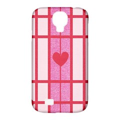 Fabric Magenta Texture Textile Love Hearth Samsung Galaxy S4 Classic Hardshell Case (pc+silicone) by Nexatart