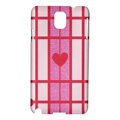 Fabric Magenta Texture Textile Love Hearth Samsung Galaxy Note 3 N9005 Hardshell Case