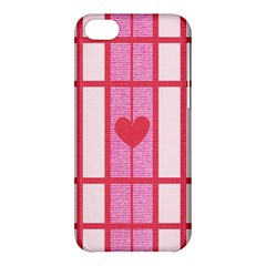 Fabric Magenta Texture Textile Love Hearth Apple Iphone 5c Hardshell Case by Nexatart