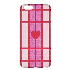 Fabric Magenta Texture Textile Love Hearth Apple iPhone 6 Plus/6S Plus Hardshell Case by Nexatart