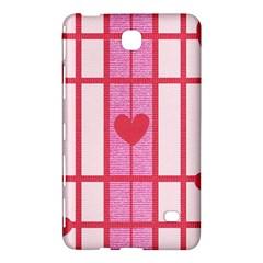 Fabric Magenta Texture Textile Love Hearth Samsung Galaxy Tab 4 (7 ) Hardshell Case  by Nexatart