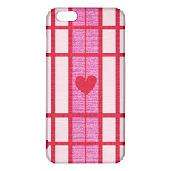 Fabric Magenta Texture Textile Love Hearth Iphone 6 Plus/6s Plus Tpu Case by Nexatart