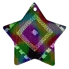 Embroidered Fabric Pattern Star Ornament (two Sides)