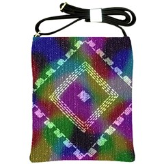 Embroidered Fabric Pattern Shoulder Sling Bags by Nexatart