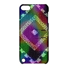 Embroidered Fabric Pattern Apple Ipod Touch 5 Hardshell Case With Stand
