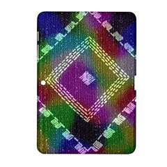 Embroidered Fabric Pattern Samsung Galaxy Tab 2 (10 1 ) P5100 Hardshell Case  by Nexatart