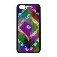 Embroidered Fabric Pattern Apple Iphone 5c Seamless Case (black) by Nexatart