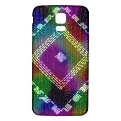 Embroidered Fabric Pattern Samsung Galaxy S5 Back Case (white)