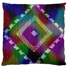 Embroidered Fabric Pattern Large Flano Cushion Case (two Sides)