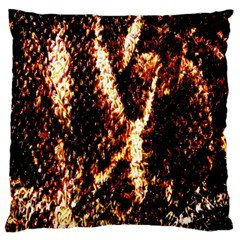 Fabric Yikes Texture Large Flano Cushion Case (two Sides)