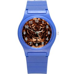 Eye Of The Tiger Round Plastic Sport Watch (s) by Nexatart