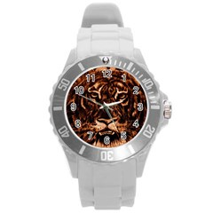 Eye Of The Tiger Round Plastic Sport Watch (l)