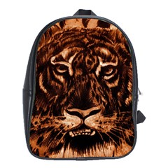 Eye Of The Tiger School Bags (xl)