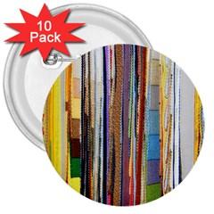 Fabric 3  Buttons (10 Pack)  by Nexatart