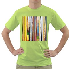 Fabric Green T Shirt by Nexatart
