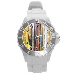 Fabric Round Plastic Sport Watch (l)