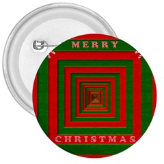 Fabric 3d Merry Christmas 3  Buttons