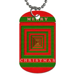 Fabric 3d Merry Christmas Dog Tag (one Side) by Nexatart