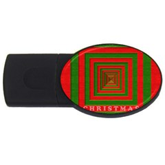 Fabric 3d Merry Christmas Usb Flash Drive Oval (4 Gb)