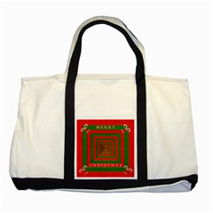 Fabric 3d Merry Christmas Two Tone Tote Bag by Nexatart