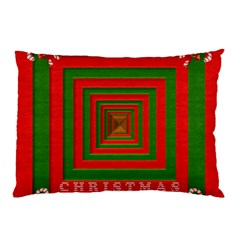 Fabric 3d Merry Christmas Pillow Case (two Sides) by Nexatart