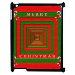 Fabric 3d Merry Christmas Apple Ipad 2 Case (black) by Nexatart