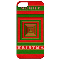 Fabric 3d Merry Christmas Apple Iphone 5 Classic Hardshell Case