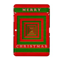 Fabric 3d Merry Christmas Samsung Galaxy Tab 2 (10 1 ) P5100 Hardshell Case  by Nexatart