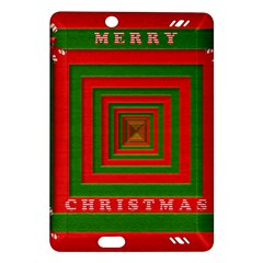 Fabric 3d Merry Christmas Amazon Kindle Fire Hd (2013) Hardshell Case by Nexatart