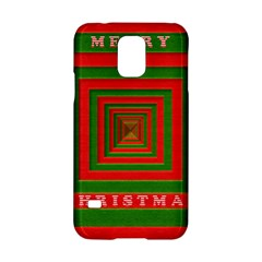 Fabric 3d Merry Christmas Samsung Galaxy S5 Hardshell Case  by Nexatart