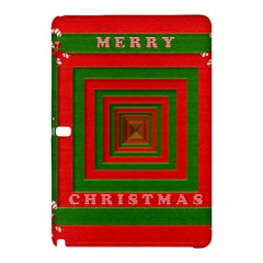 Fabric 3d Merry Christmas Samsung Galaxy Tab Pro 10 1 Hardshell Case by Nexatart