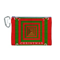 Fabric 3d Merry Christmas Canvas Cosmetic Bag (m) by Nexatart