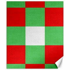 Fabric Christmas Colors Bright Canvas 8  X 10  by Nexatart