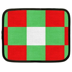 Fabric Christmas Colors Bright Netbook Case (xl)  by Nexatart