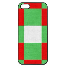 Fabric Christmas Colors Bright Apple Iphone 5 Seamless Case (black)