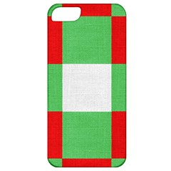 Fabric Christmas Colors Bright Apple Iphone 5 Classic Hardshell Case