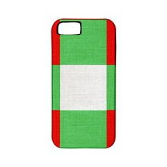 Fabric Christmas Colors Bright Apple Iphone 5 Classic Hardshell Case (pc+silicone)