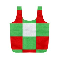 Fabric Christmas Colors Bright Full Print Recycle Bags (m)