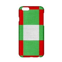 Fabric Christmas Colors Bright Apple Iphone 6/6s Hardshell Case