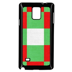 Fabric Christmas Colors Bright Samsung Galaxy Note 4 Case (black)