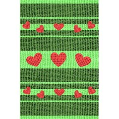 Fabric Christmas Hearts Texture 5 5  X 8 5  Notebooks