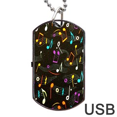 Fabric Cloth Textile Clothing Dog Tag Usb Flash (two Sides)