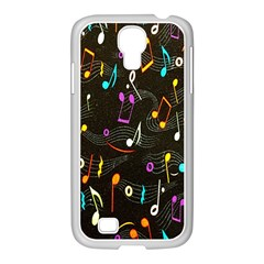 Fabric Cloth Textile Clothing Samsung Galaxy S4 I9500/ I9505 Case (white)