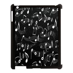 Fabric Cloth Textile Clothing Apple Ipad 3/4 Case (black)