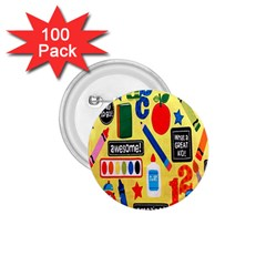 Fabric Cloth Textile Clothing 1 75  Buttons (100 Pack)