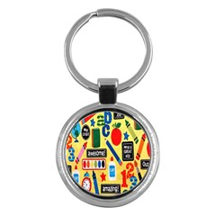 Fabric Cloth Textile Clothing Key Chains (round)  by Nexatart