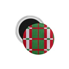Fabric Green Grey Red Pattern 1 75  Magnets