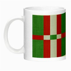 Fabric Green Grey Red Pattern Night Luminous Mugs by Nexatart
