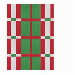 Fabric Green Grey Red Pattern Large Garden Flag (Two Sides) by Nexatart