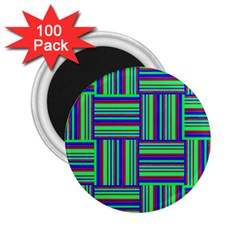 Fabric Pattern Design Cloth Stripe 2 25  Magnets (100 Pack)  by Nexatart